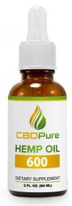 Bottle of CBDPure 600